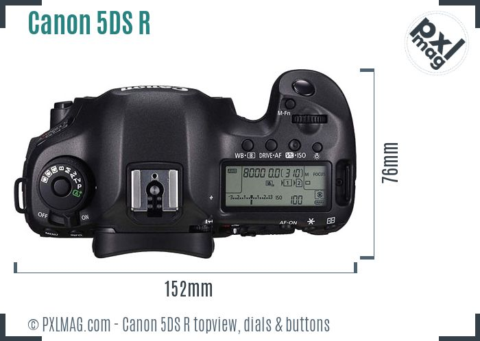 Canon EOS 5DS R topview buttons dials