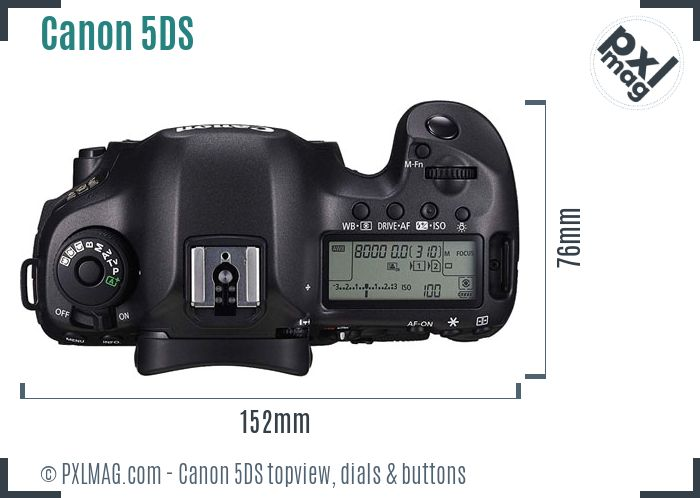 Canon EOS 5DS topview buttons dials