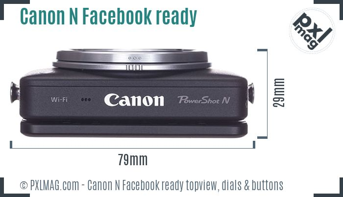 Canon PowerShot N Facebook ready topview buttons dials