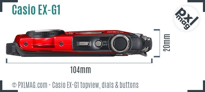 Casio Exilim EX-G1 topview buttons dials