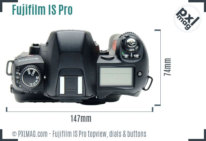 Fujifilm FinePix IS Pro topview buttons dials