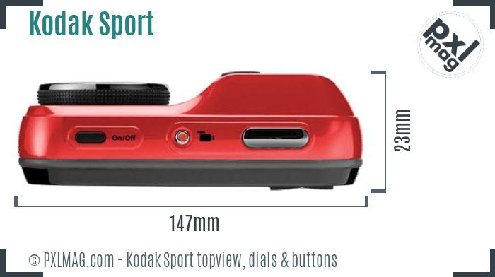 Kodak EasyShare Sport topview buttons dials