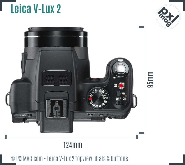 Leica V-Lux 2 topview buttons dials