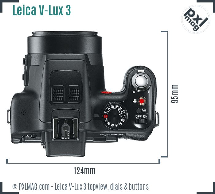 Leica V-Lux 3 topview buttons dials