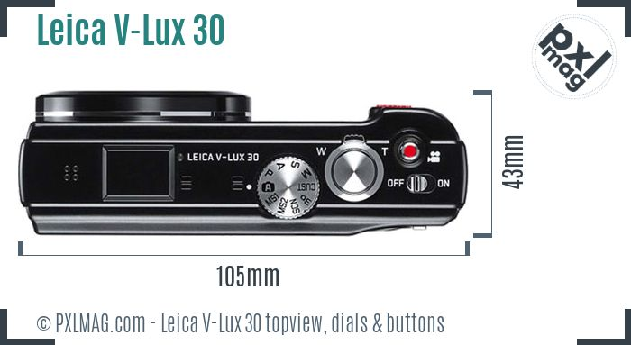 Leica V-Lux 30 topview buttons dials
