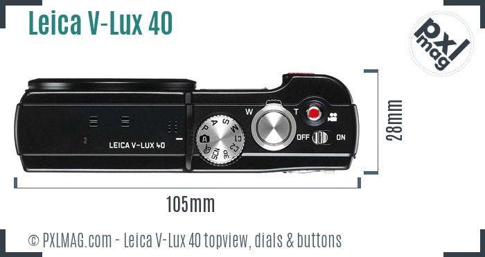 Leica V-Lux 40 topview buttons dials