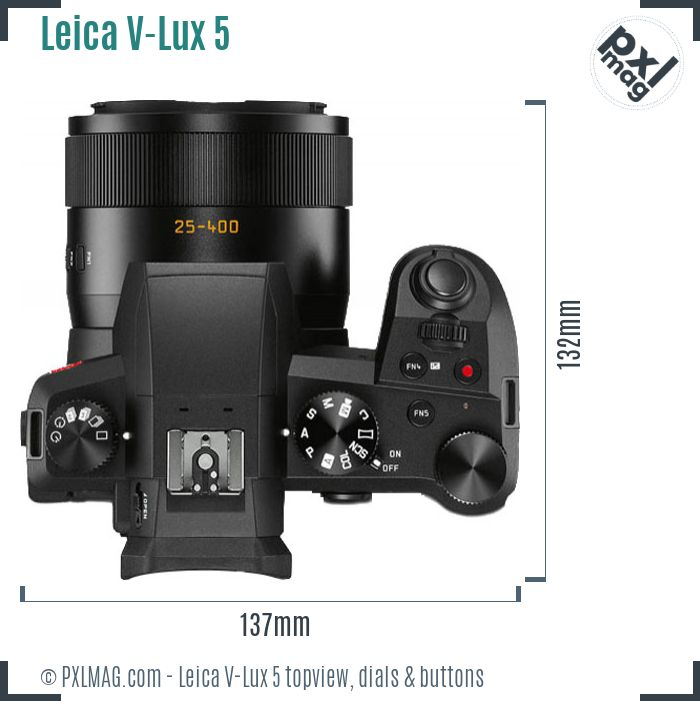 Leica V-Lux 5 topview buttons dials