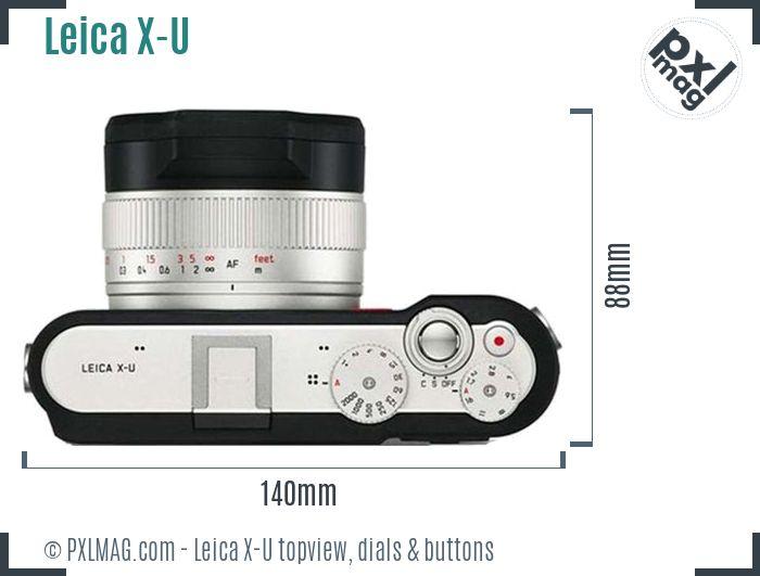 Leica X-U topview buttons dials