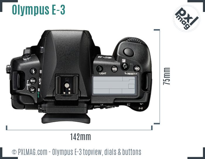 Olympus E-3 topview buttons dials