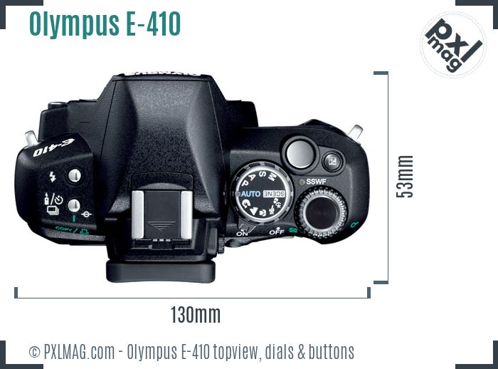 Olympus E-410 topview buttons dials