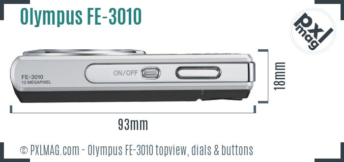 Olympus FE-3010 topview buttons dials