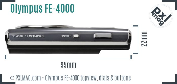 Olympus FE-4000 topview buttons dials