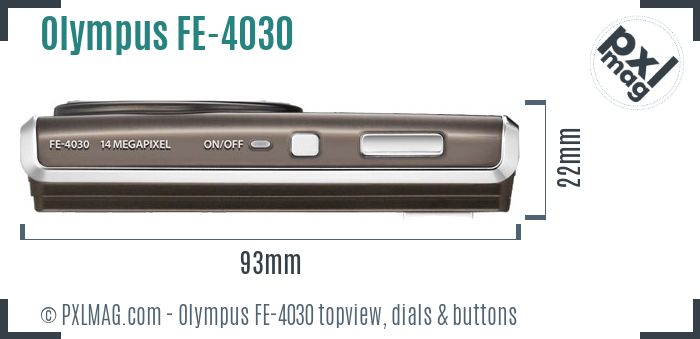 Olympus FE-4030 topview buttons dials