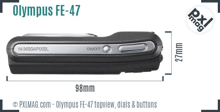 Olympus FE-47 topview buttons dials