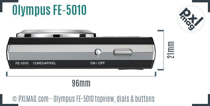 Olympus FE-5010 topview buttons dials