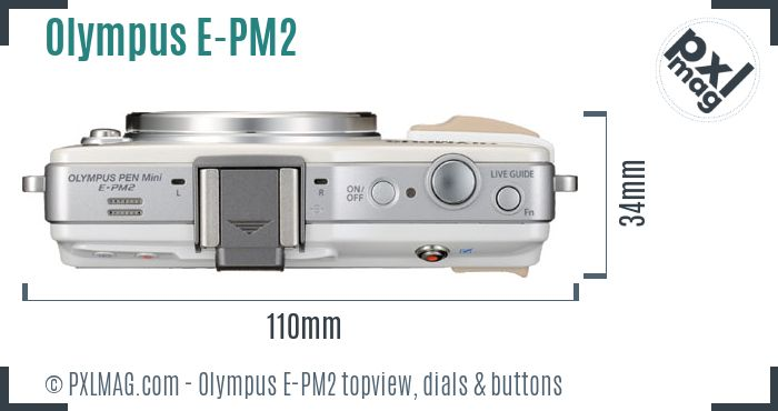 Olympus PEN E-PM2 topview buttons dials