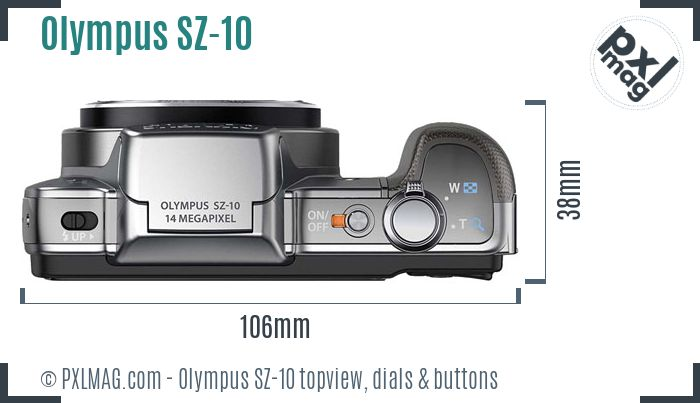 Olympus SZ-10 topview buttons dials