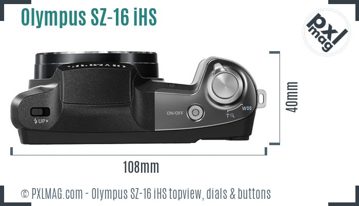 Olympus SZ-16 iHS topview buttons dials