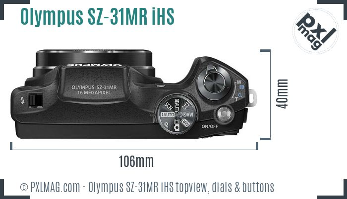 Olympus SZ-31MR iHS topview buttons dials