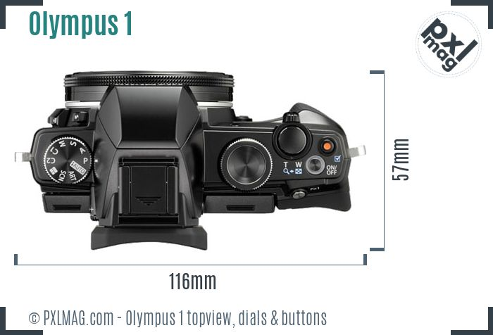 Olympus Stylus 1 topview buttons dials