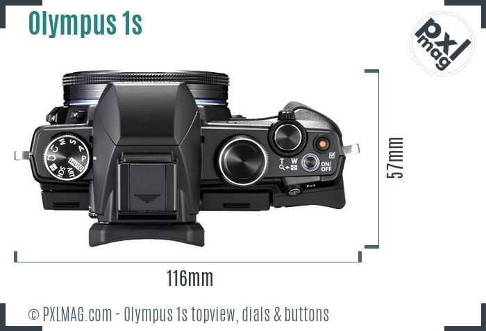 Olympus Stylus 1s topview buttons dials