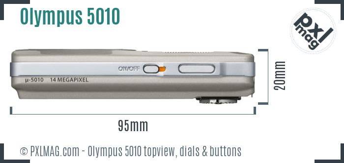 Olympus Stylus 5010 topview buttons dials