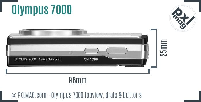Olympus Stylus 7000 topview buttons dials