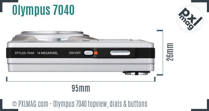 Olympus Stylus 7040 topview buttons dials