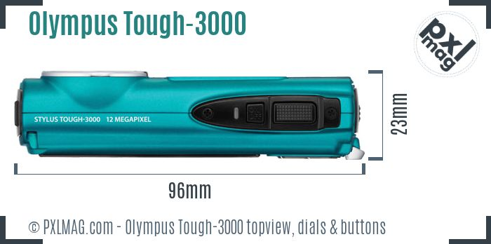 Olympus Stylus Tough-3000 topview buttons dials