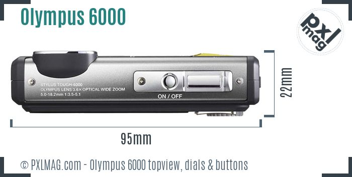 Olympus Stylus Tough 6000 topview buttons dials