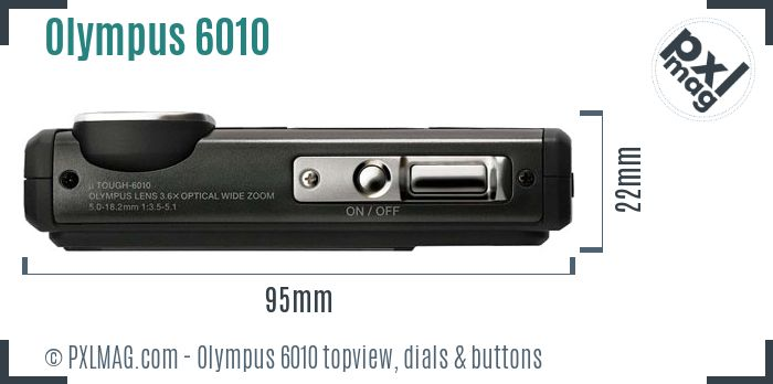 Olympus Stylus Tough 6010 topview buttons dials