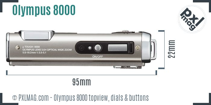 Olympus Stylus Tough 8000 topview buttons dials