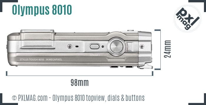 Olympus Stylus Tough 8010 topview buttons dials