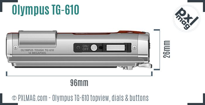 Olympus TG-610 topview buttons dials