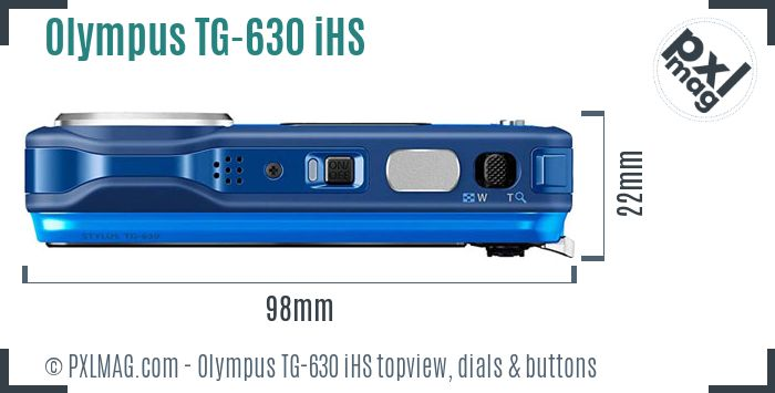 Olympus TG-630 iHS topview buttons dials