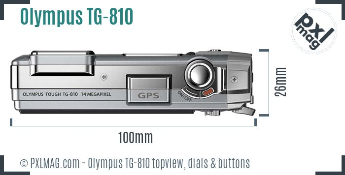 Olympus TG-810 topview buttons dials