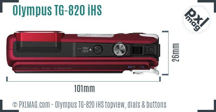 Olympus TG-820 iHS topview buttons dials