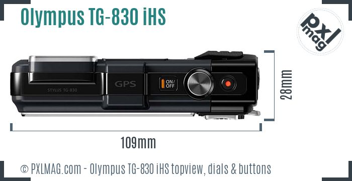 Olympus TG-830 iHS topview buttons dials