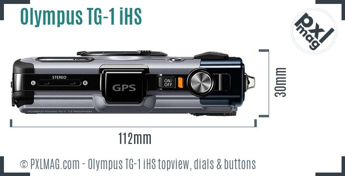 Olympus Tough TG-1 iHS topview buttons dials