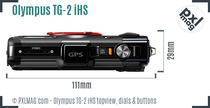 Olympus Tough TG-2 iHS topview buttons dials