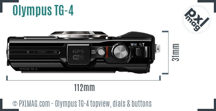 Olympus Tough TG-4 topview buttons dials