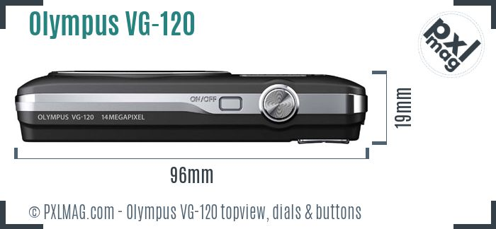 Olympus VG-120 topview buttons dials