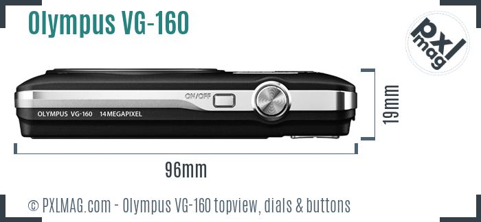 Olympus VG-160 topview buttons dials