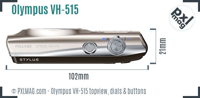 Olympus VH-515 topview buttons dials