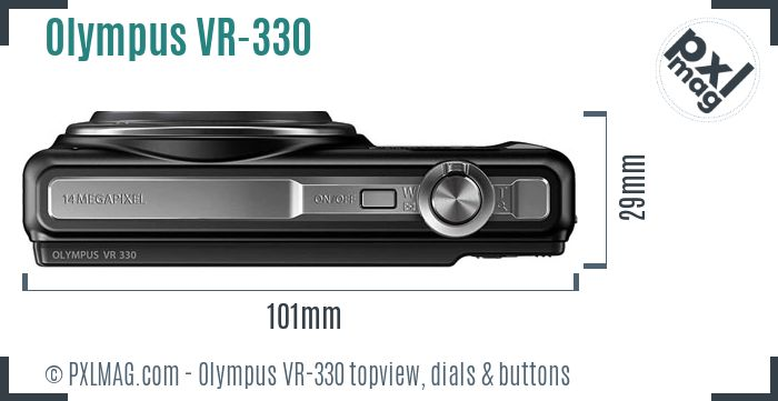 Olympus VR-330 topview buttons dials