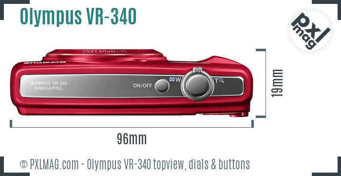 Olympus VR-340 topview buttons dials