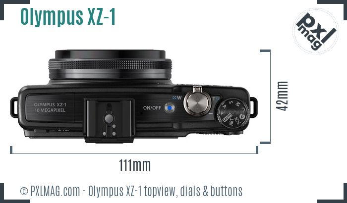 Olympus XZ-1 topview buttons dials
