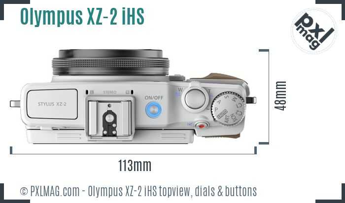 Olympus XZ-2 iHS topview buttons dials