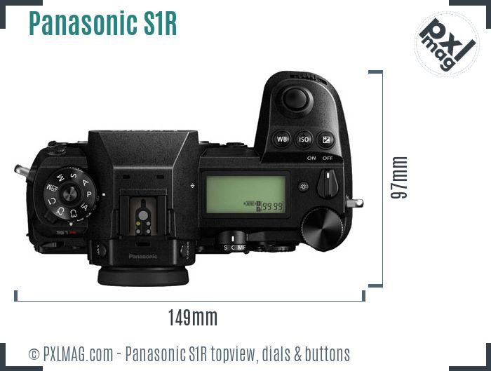 Panasonic Lumix DC-S1R topview buttons dials