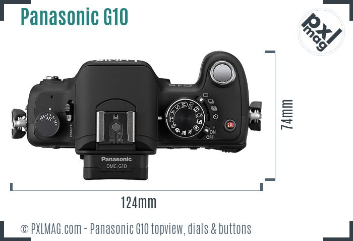 Panasonic Lumix DMC-G10 topview buttons dials
